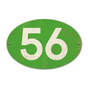 Koenmeloen-Huisnummer-bord-ovaal-groen-wit