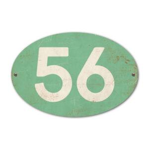 Koenmeloen-Huisnummer-bord-ovaal-mint-wit
