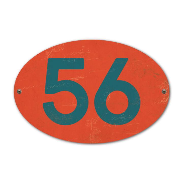 Koenmeloen-Huisnummer-bord-ovaal-rood-blauw