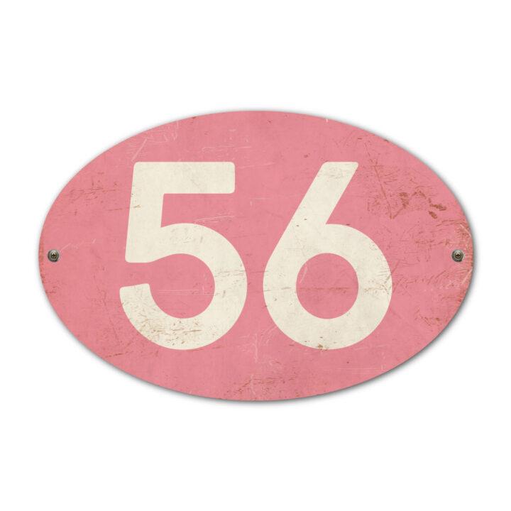 Koenmeloen-Huisnummer-bord-ovaal-roze-wit