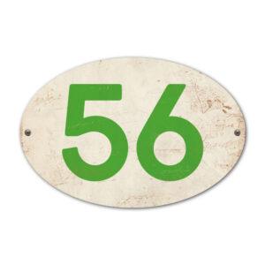 Koenmeloen-Huisnummer-bord-ovaal-wit-groen