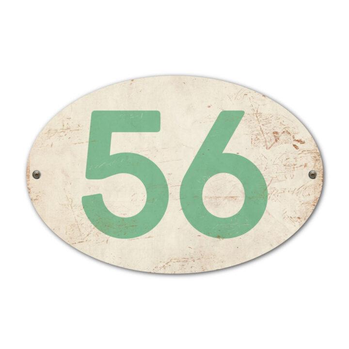 Koenmeloen-Huisnummer-bord-ovaal-wit-mint