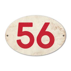 Koenmeloen-Huisnummer-bord-ovaal-wit-rood