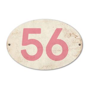 Koenmeloen-Huisnummer-bord-ovaal-wit-roze