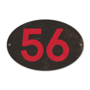 Koenmeloen-Huisnummer-bord-ovaal-zwart-rood