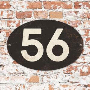 Huisnummers ovaal