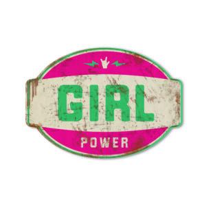 Koenmeloen naamborden Girl power banner roze mint meisjeskamer